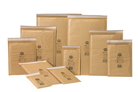 Jiffy Airkraft Gold Bubble Envelopes