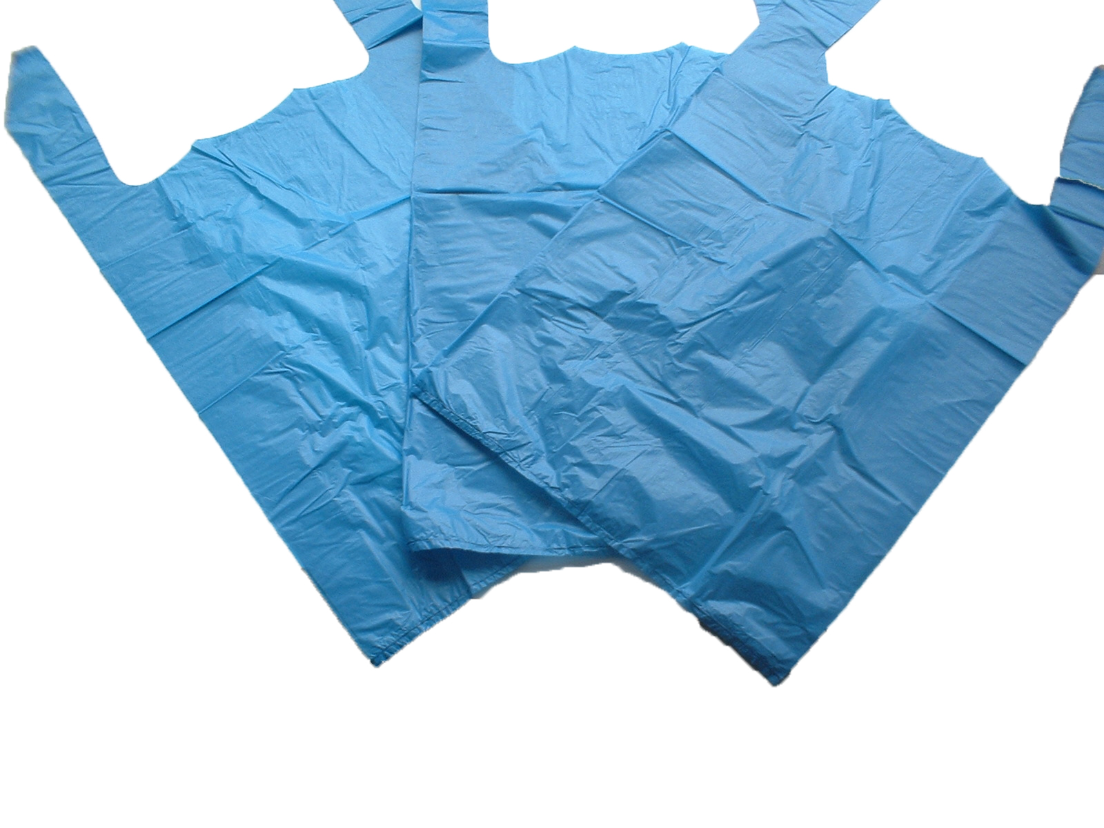 Blue Plastic Carrier Bags