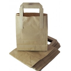 Kraft Paper Block Bottom SOS Bags