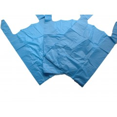 Blue Vest Plastic Carrier Bags