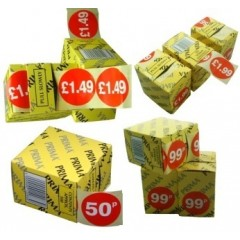 Retail Price Sticker Labels On Roll