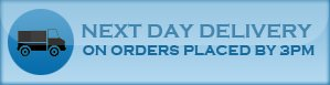 Next Day Delivery on orders placed by 3PM